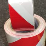 PVC Lane mark tape rood wit